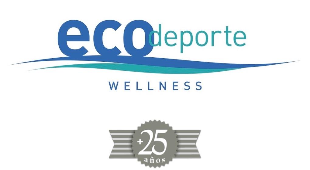Logitipo del 25 aniversario de ECOdeporte.